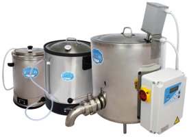 Milky pasteurizer, cheese and yoghurt kettles