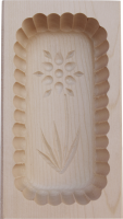 Butter mould wood 250g